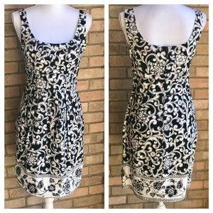 B Smart, white/black dress .